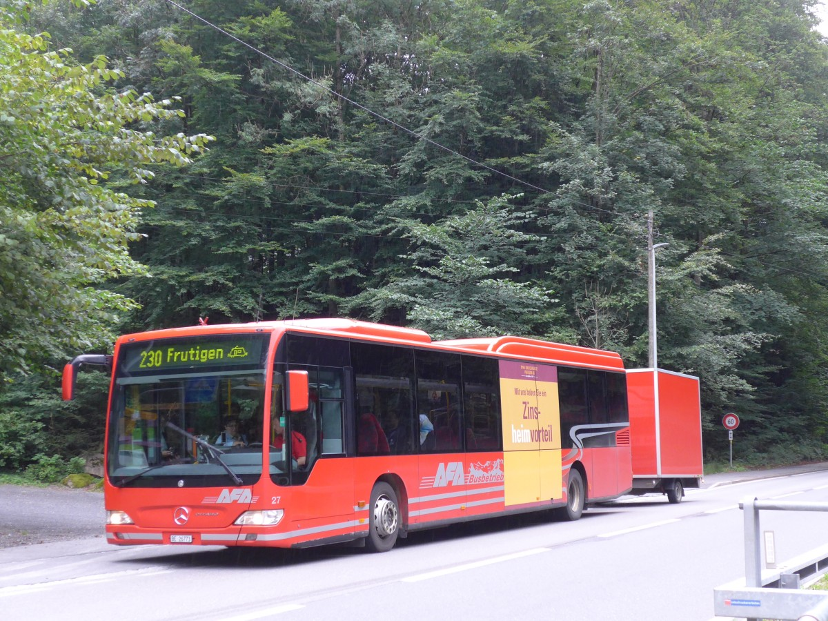 (163'635) - AFA Adelboden - Nr. 27/BE 26'773 - Mercedes am 17. August 2015 in Blausee-Mitholz, Blausee