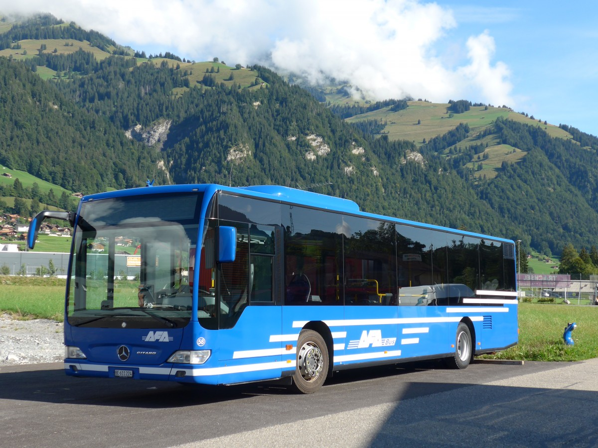 (163'663) - AFA Adelboden - Nr. 58/BE 611'224 - Mercedes am 20. August 2015 in Frutigen, Garage