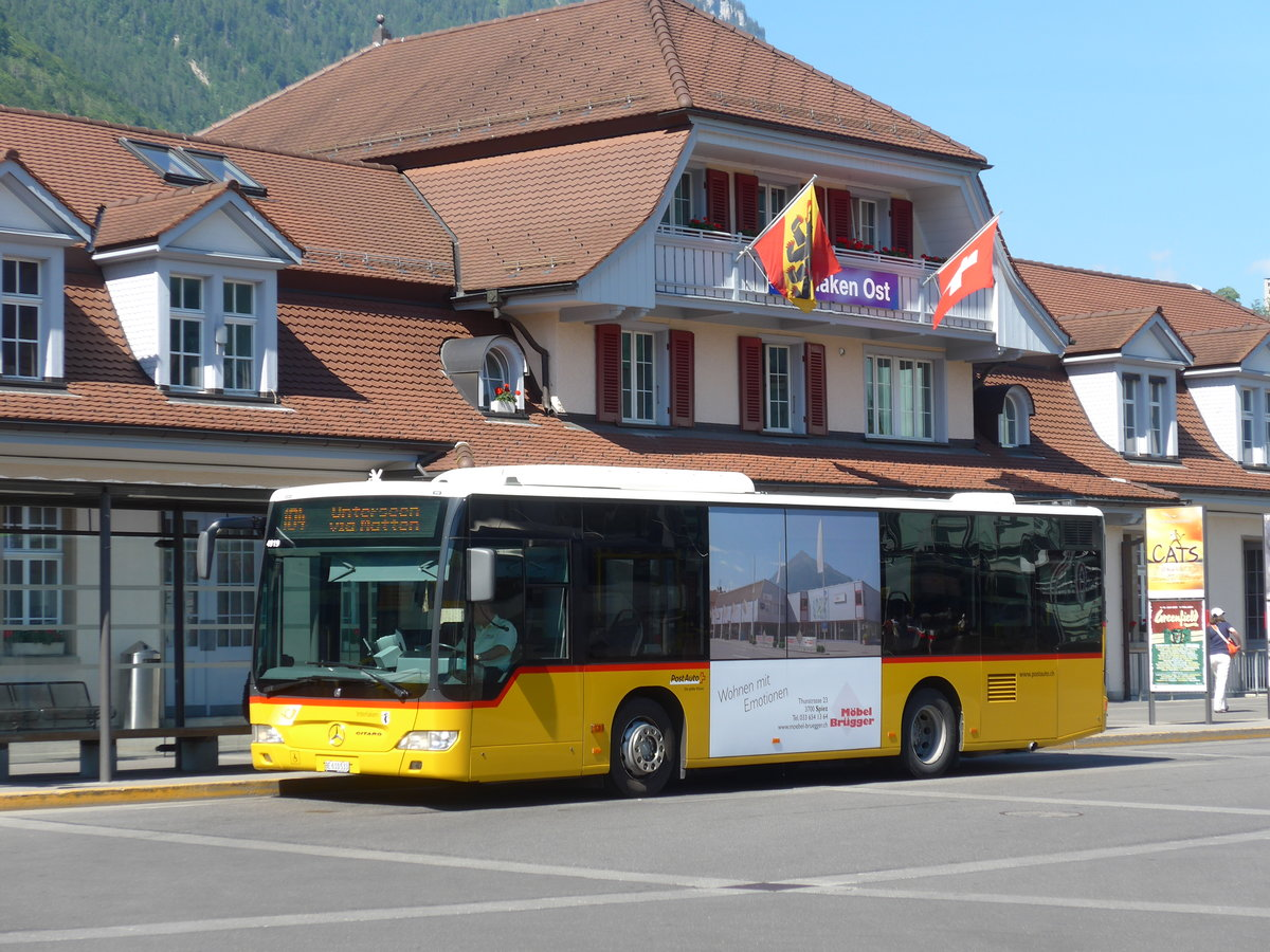 (181'023) - PostAuto Bern - BE 610'533 - Mercedes am 11. Juni 2017 beim Bahnhof Interlaken Ost