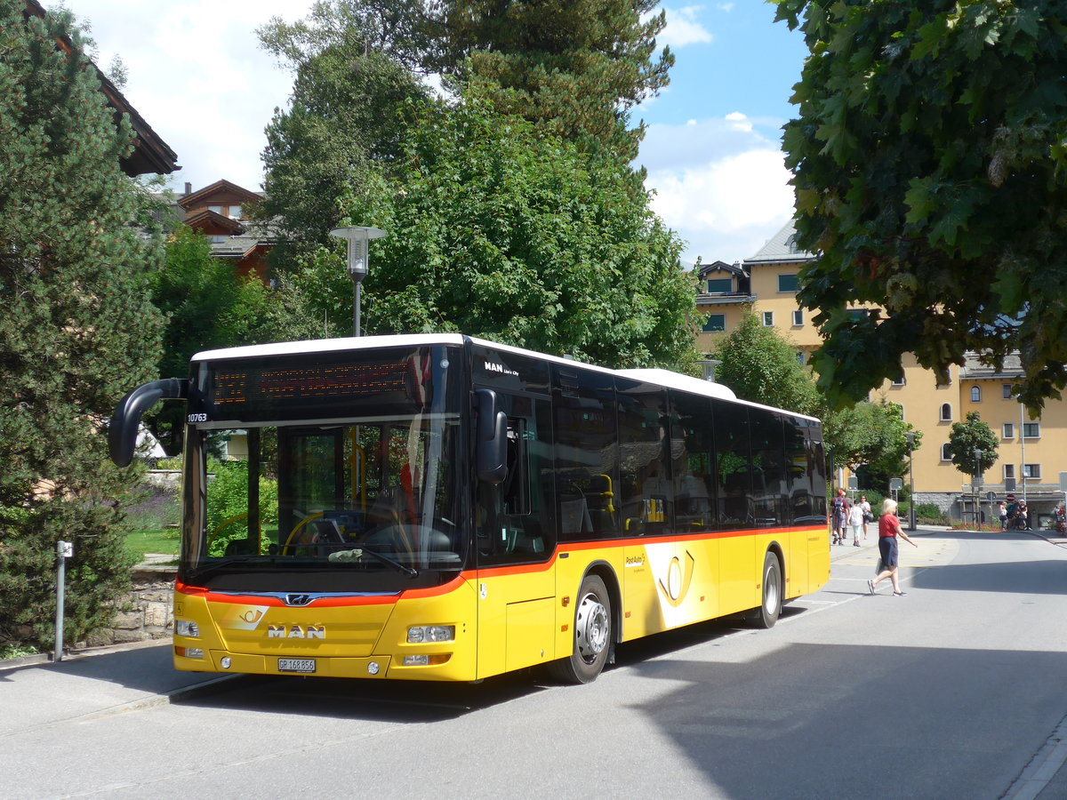 (182'781) - PostAuto Graubünden - GR 168'856 - MAN am 5. August 2017 in Klosters, Vereinapark