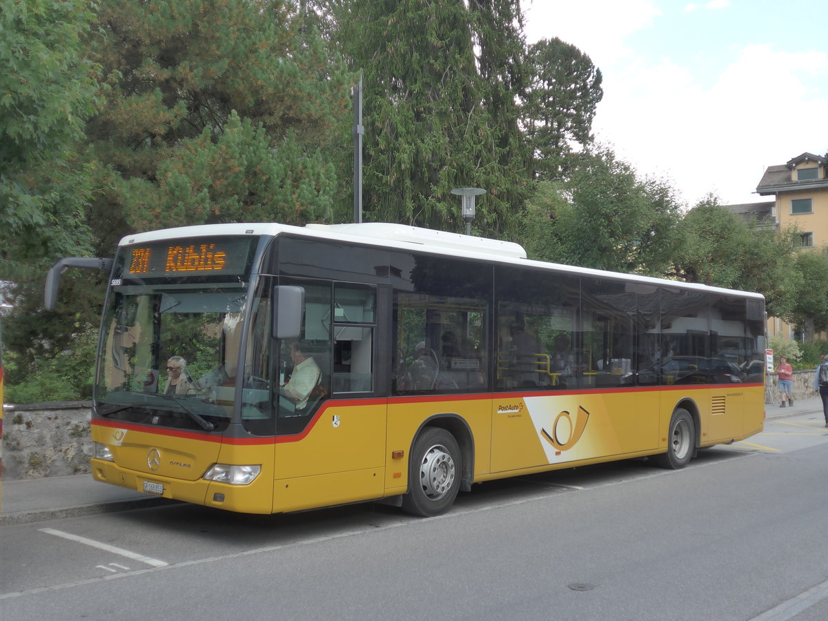 (182'784) - PostAuto Graubünden - GR 168'853 - Mercedes am 5. August 2017 in Klosters, Vereinapark