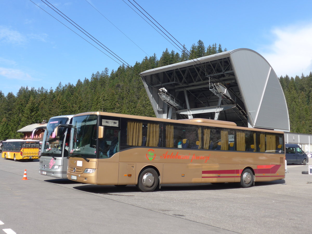 (183'975) - Aus Slowenien: Autobusni prevozi, Koper - NM CP-212 - Mercedes am 24. August 2017 in Les Diablerets, Col du Pillon