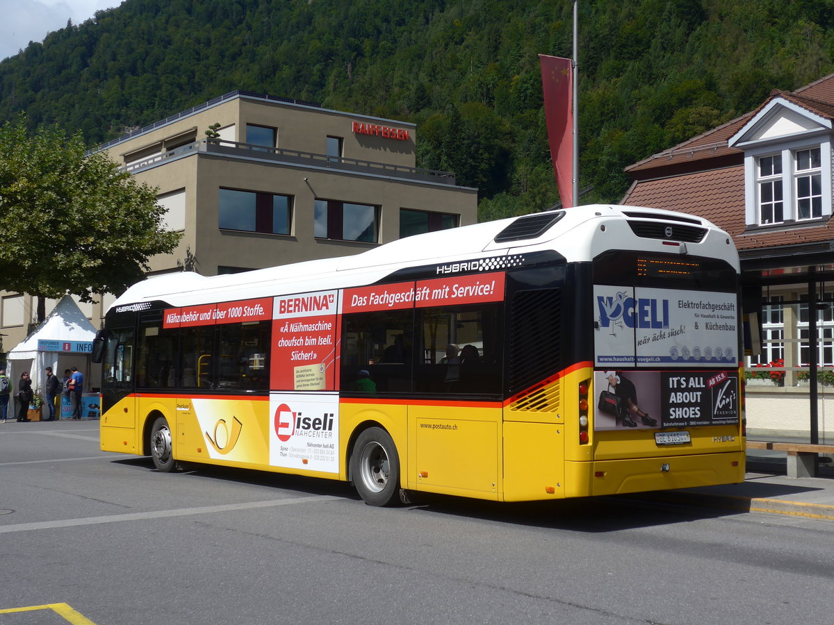 (184'547) - PostAuto Bern - BE 610'544 - Volvo am 3. September 2017 beim Bahnhof Interlaken Ost