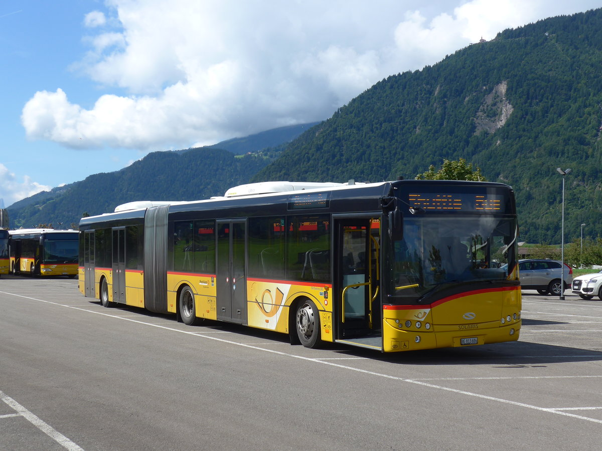(184'582) - PostAuto Bern - Nr. 684/BE 813'684 - Solaris am 3. September 2017 in Interlaken, Flugplatz