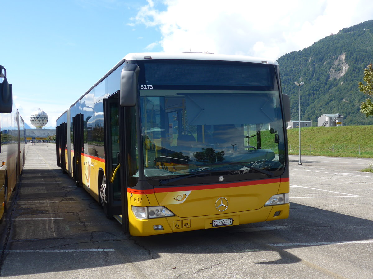(184'586) - PostAuto Bern - Nr. 637/BE 560'407 - Mercedes am 3. September 2017 in Interlaken, Flugplatz