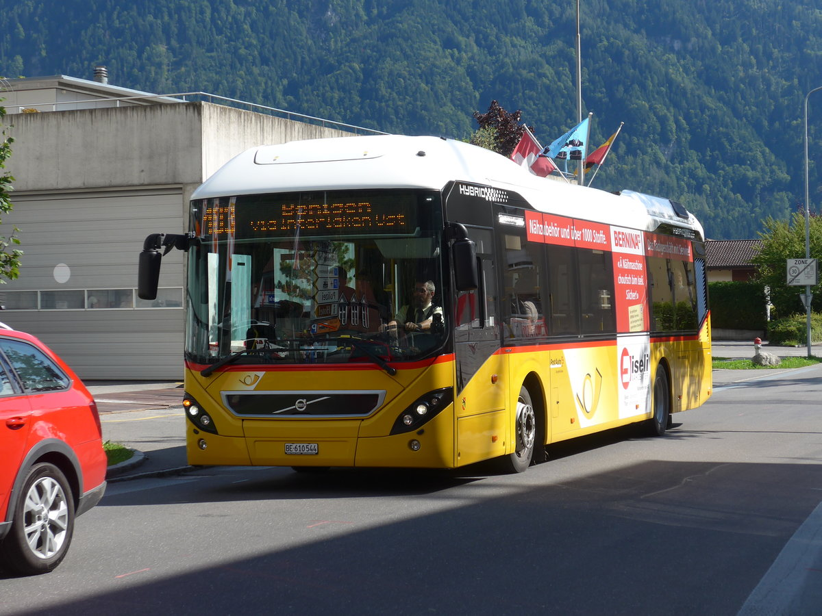 (184'601) - PostAuto Bern - BE 610'544 - Volvo am 3. September 2017 beim Bahnhof Interlaken Ost
