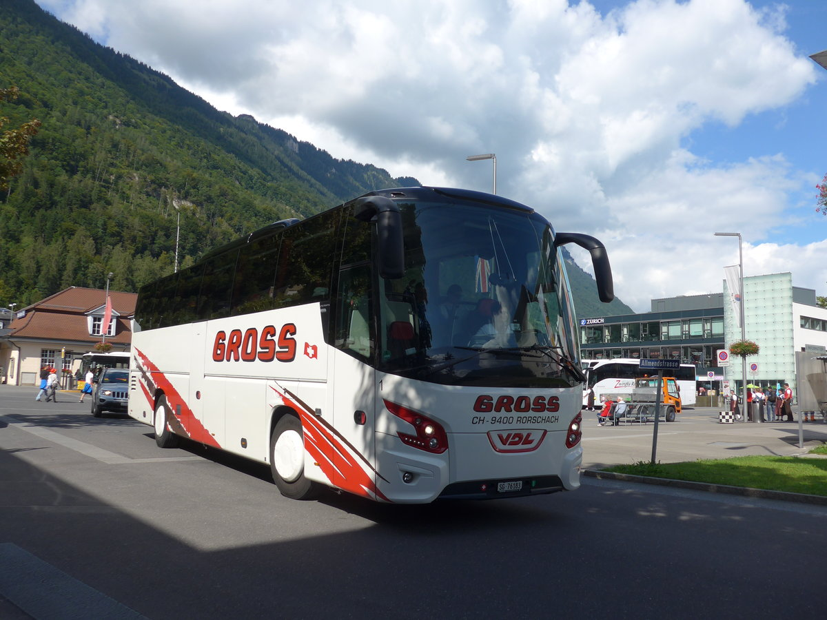 (184'607) - Gross, Rorschach - Nr. 1/SG 76'183 - VDL am 3. September 2017 beim Bahnhof Interlaken Ost