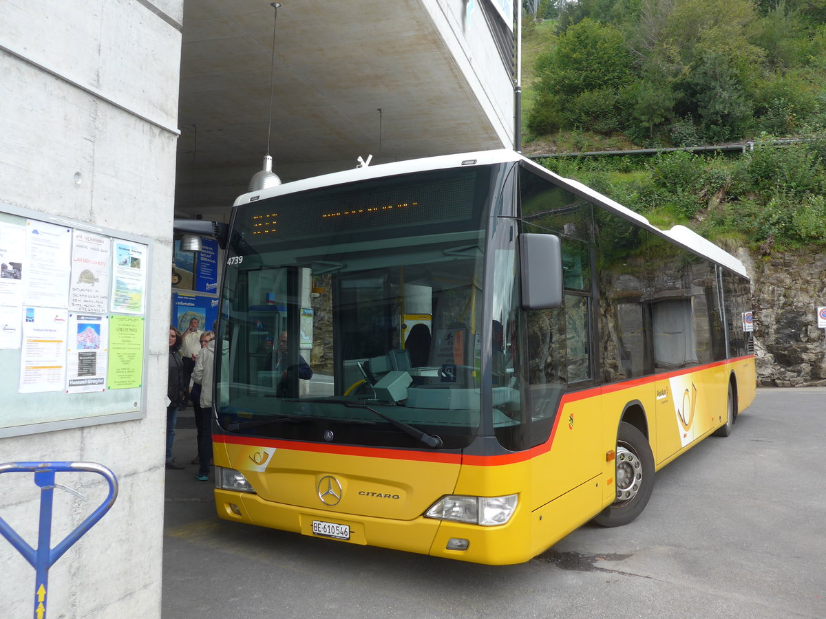(184'650) - PostAuto Bern - BE 610'546 - Mercedes am 4. September 2017 in Beatenberg, Station