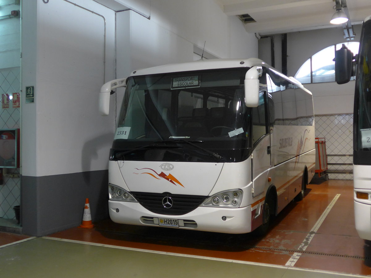 (185'464) - Soldevila, Escaldes-Engordany - H2015 - Mercedes/Beulas am 28. September 2017 in Andorra la Vella, Carparkhaus
