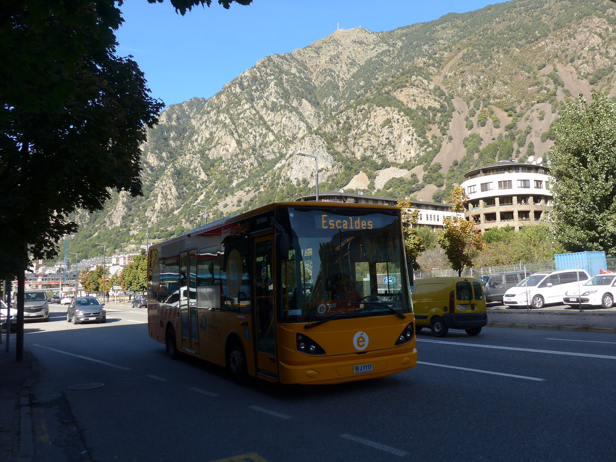 (185'479) - CIA Andorra la Vella - J1117 - UNVI am 28. September 2017 in Andorra la Vella