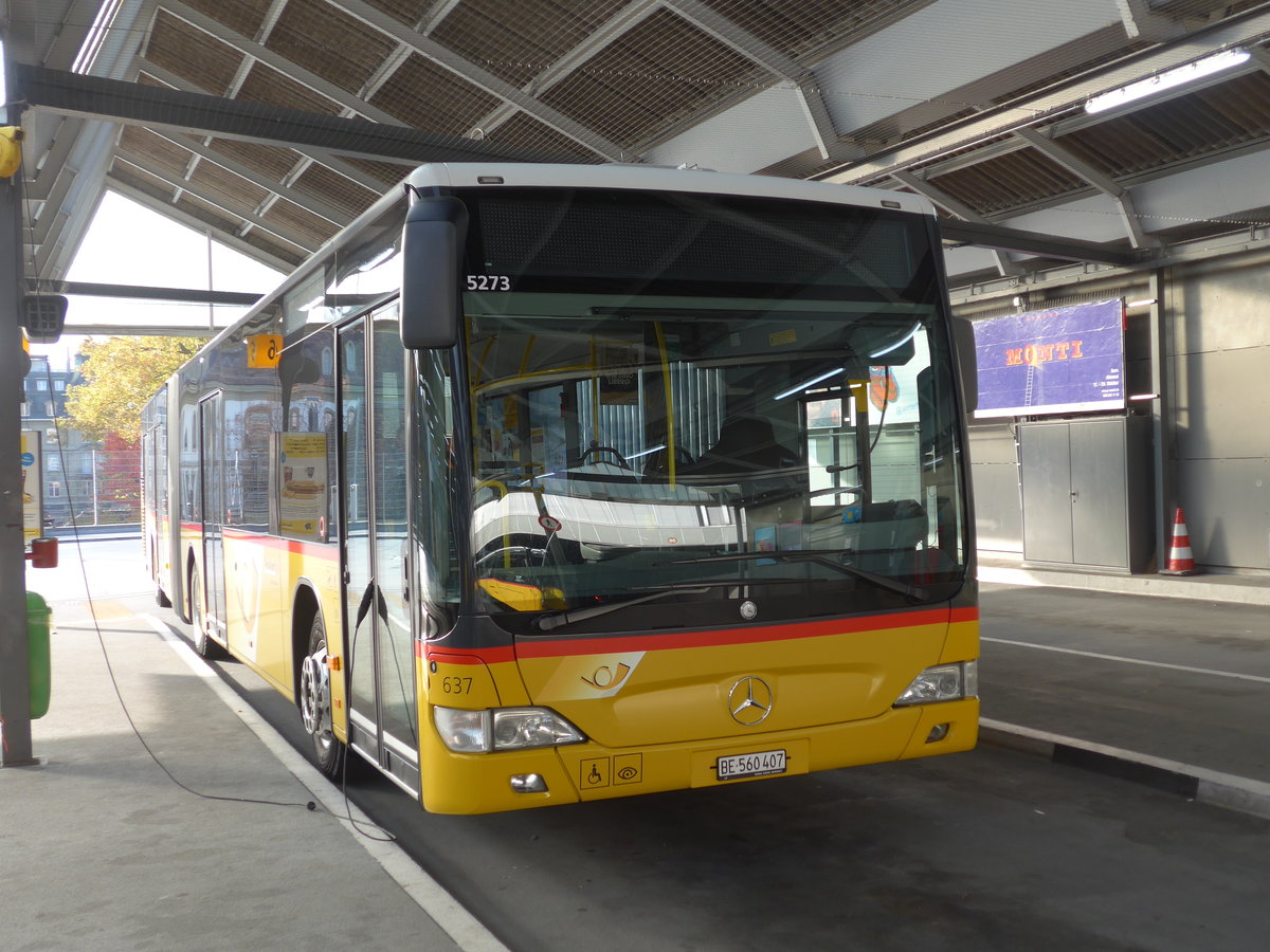 (185'994) - PostAuto Bern - Nr. 637/BE 560'407 - Mercedes am 21. Oktober 2017 in Bern, Postautostation