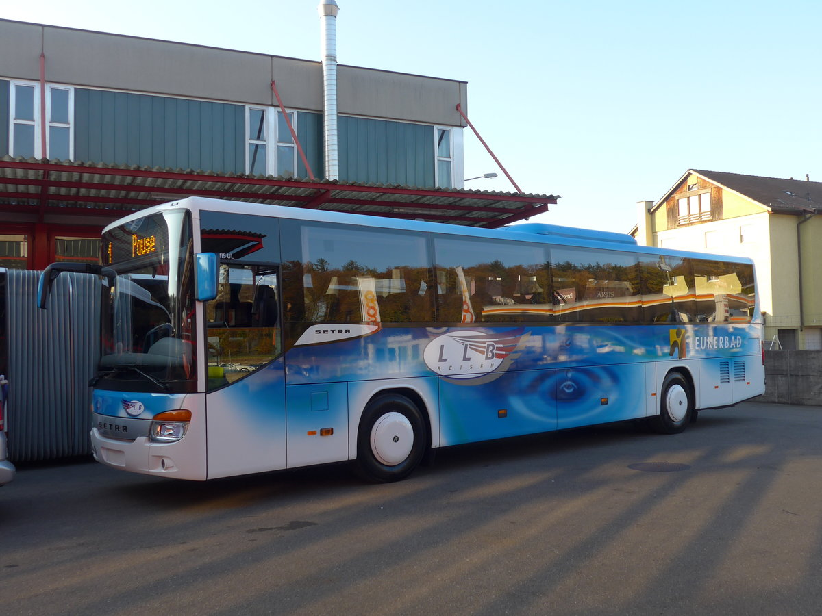 (186'227) - LLB Susten - Nr. 11 - Setra am 3. November 2017 in Kloten, EvoBus
