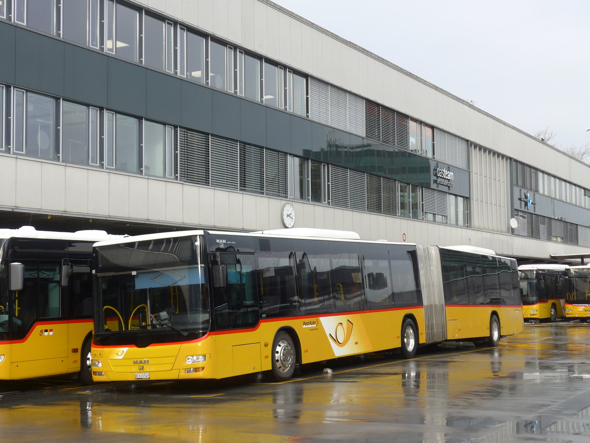 (187'079) - PostAuto Bern - Nr. 662/BE 610'549 - MAN am 18. Dezember 2017 in Bern, Postautostation