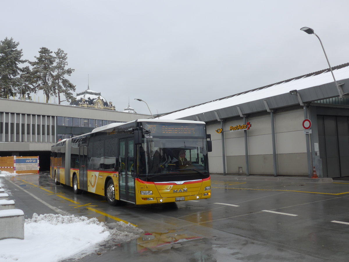 (187'082) - PostAuto Bern - Nr. 669/BE 827'669 - MAN am 18. Dezember 2017 in Bern, Postautostation
