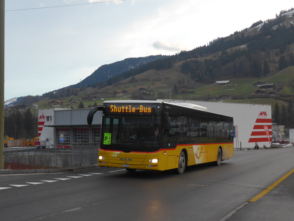 (187'707) - Steiner, Messen - SO 20'096 - MAN (ex SO 104'174) am 7. Januar 2018 in Frutigen, Schwandistrasse