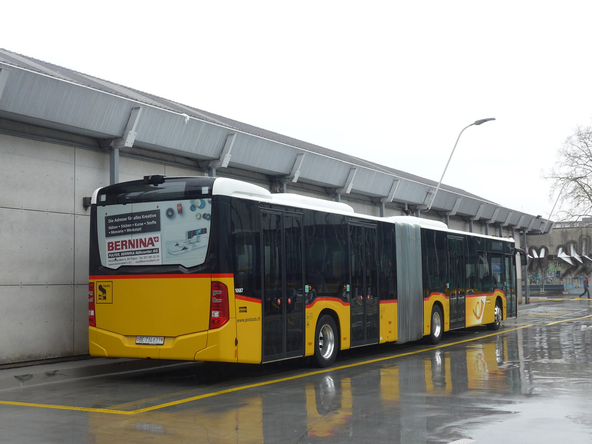 (188'624) - PostAuto Bern - Nr. 633/BE 734'633 - Mercedes am 15. Februar 2018 in Bern, Postautostation