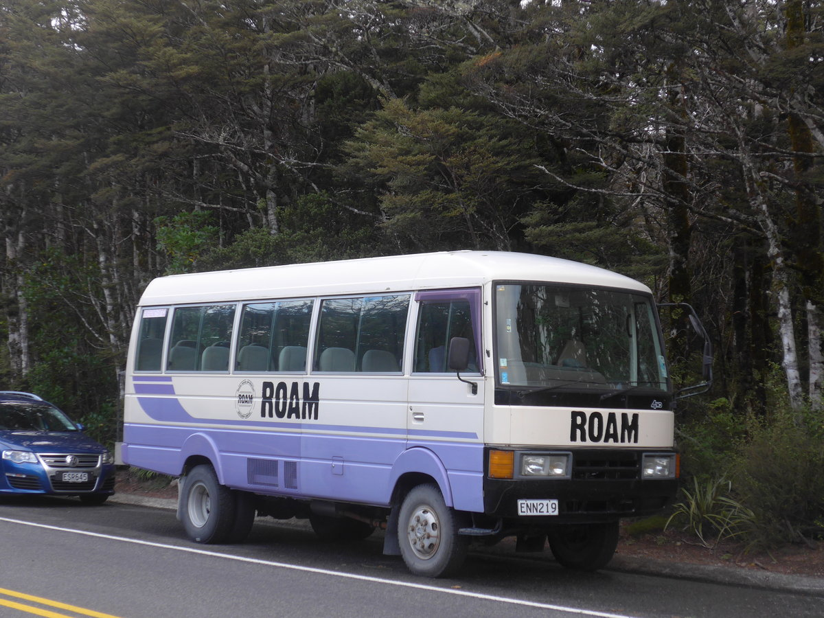 (191'300) - Roam, Tongariro - ENN219 - Nissan am 24. April 2018 in Whakapapa, Holiday Park