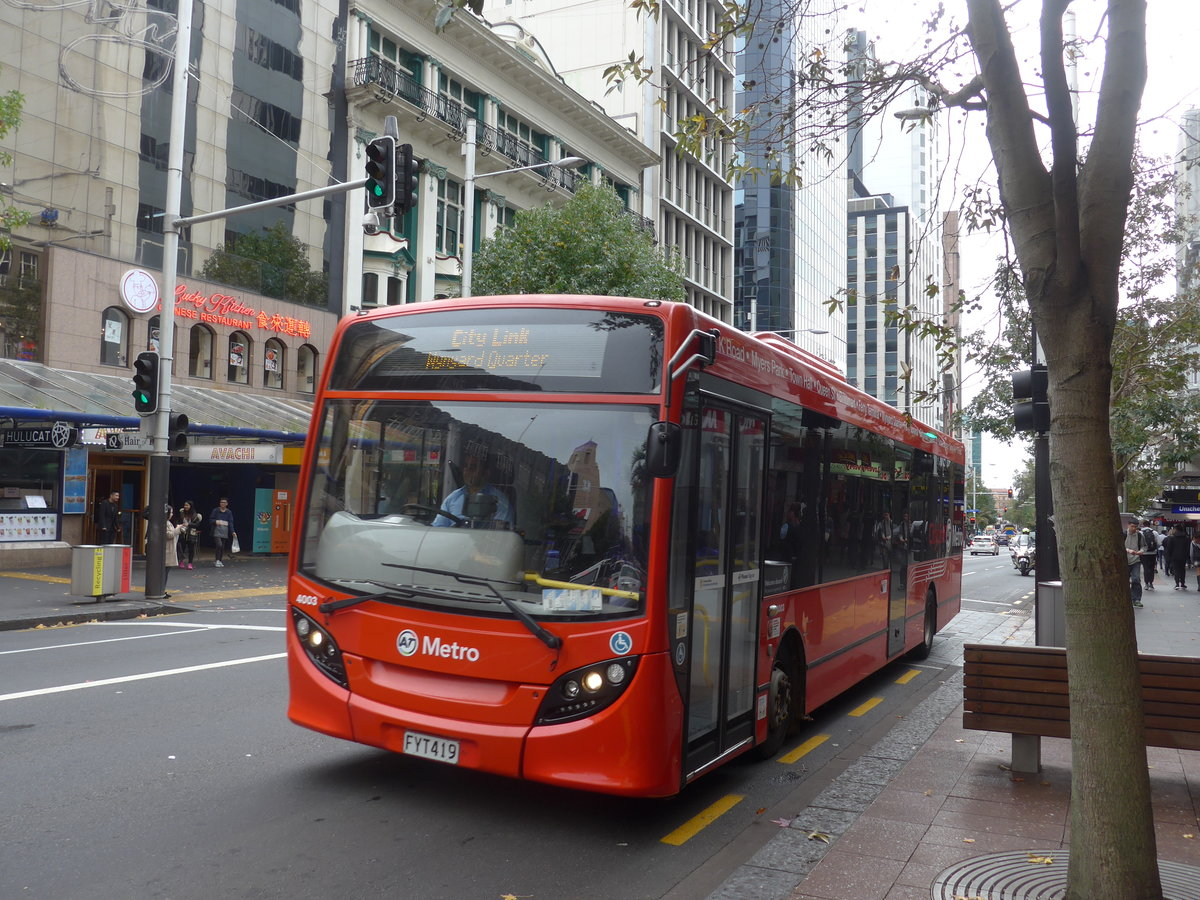 (192'032) - AT Metro, Auckland - Nr. 4003/FYT419 - Alexander Dennis/KiwiBus am 30. April 2018 in Auckland