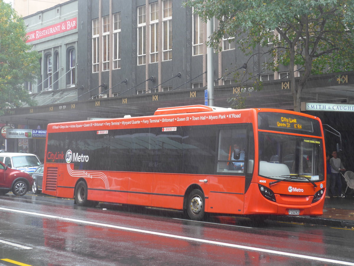 (192'068) - AT Metro - Nr. 4005/FZG243 - Alexander Dennis/KiwiBus am 30. April 2018 in Auckland