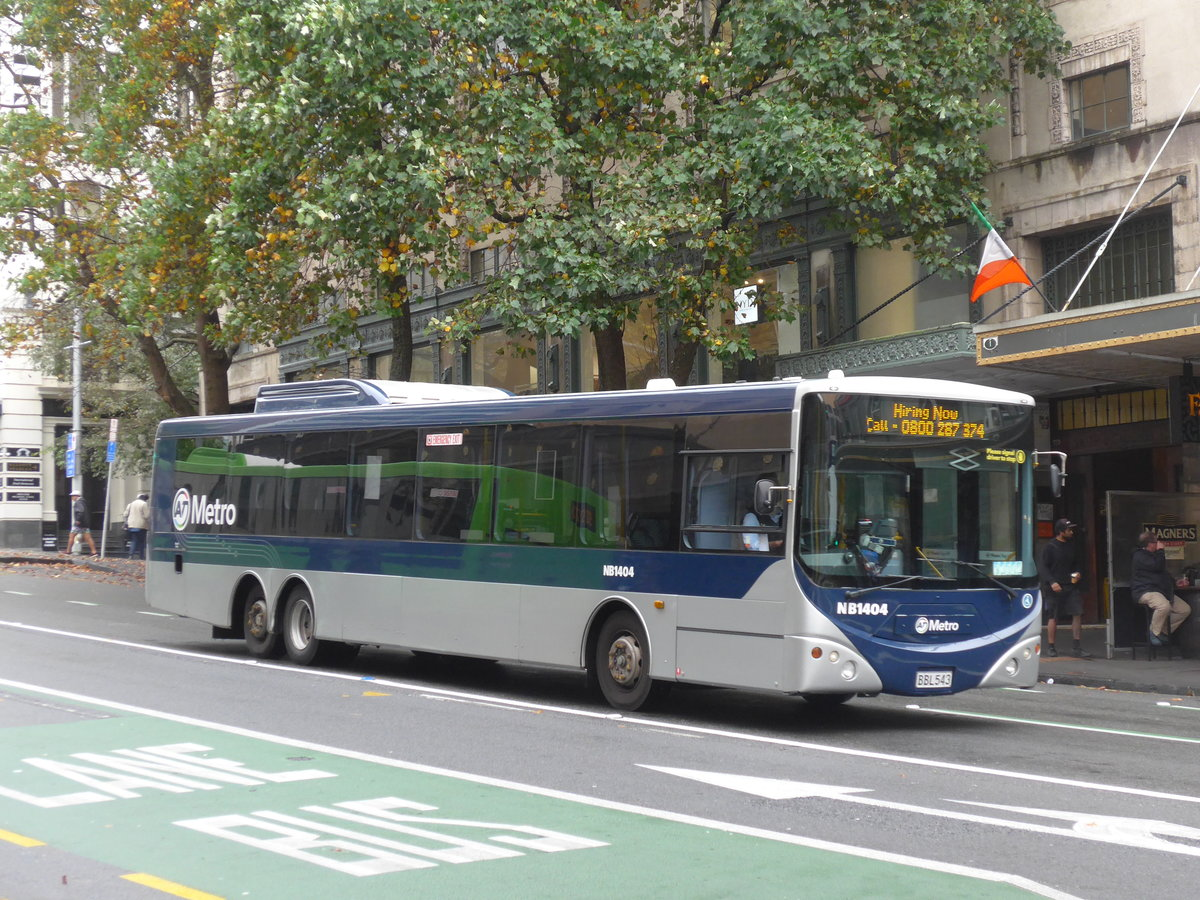 (192'129) - AT Metro, Auckland - Nr. NB1404/BBL543 - MAN/Designline am 30. April 2018 in Auckland