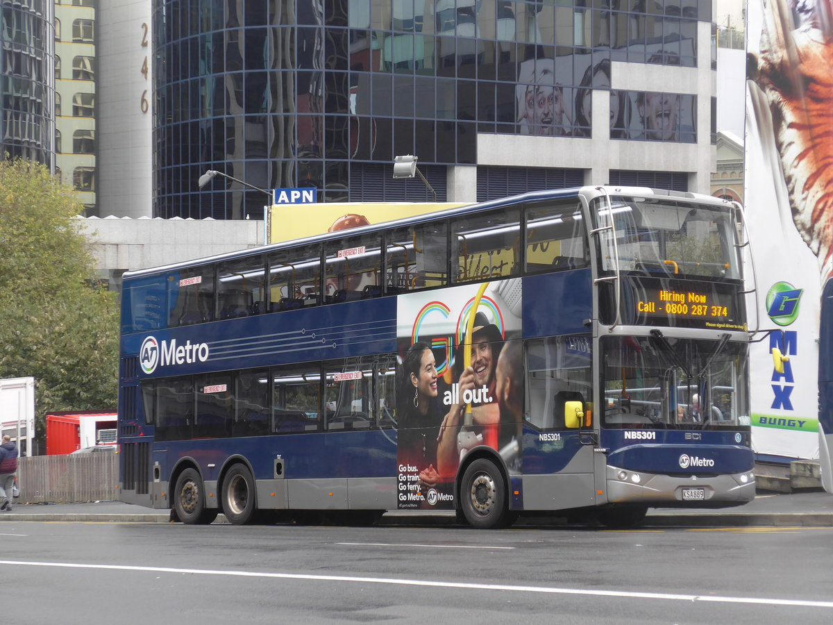 (192'136) - AT Metro, Auckland - Nr. NB5301/KSA889 - BCI am 30. April 2018 in Auckland