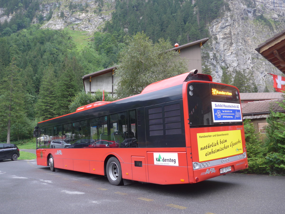 (195'993) - AFA Adelboden - Nr. 30/BE 26'703 - Solaris am 18. August 2018 in Kandersteg, Talstation Sunnbüel