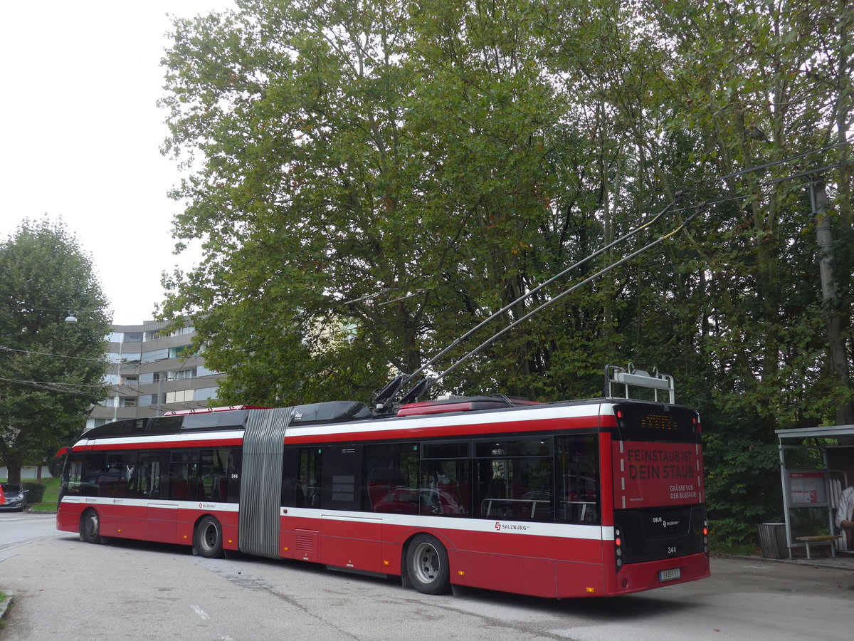 (197'549) - OBUS Salzburg - Nr. 344/S 855 ST - Solaris Gelenktrolleybus am 14. September 2018 in Salzburg, Itzling West