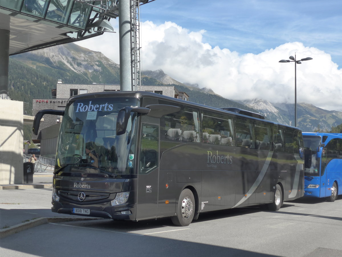 (197'650) - Aus England: Roberts, Leicester - BD18 TNO - Mercedes am 15. September 2018 in St. Anton, Rendlbahn