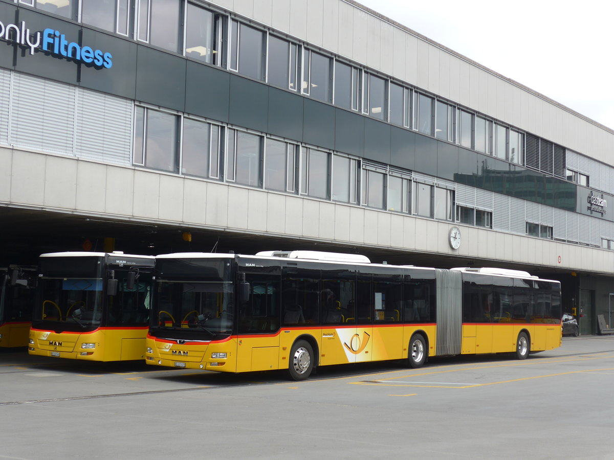 (203'660) - PostAuto Bern - Nr. 670/BE 637'670 - MAN am 14. April 2019 in Bern, Postautostation
