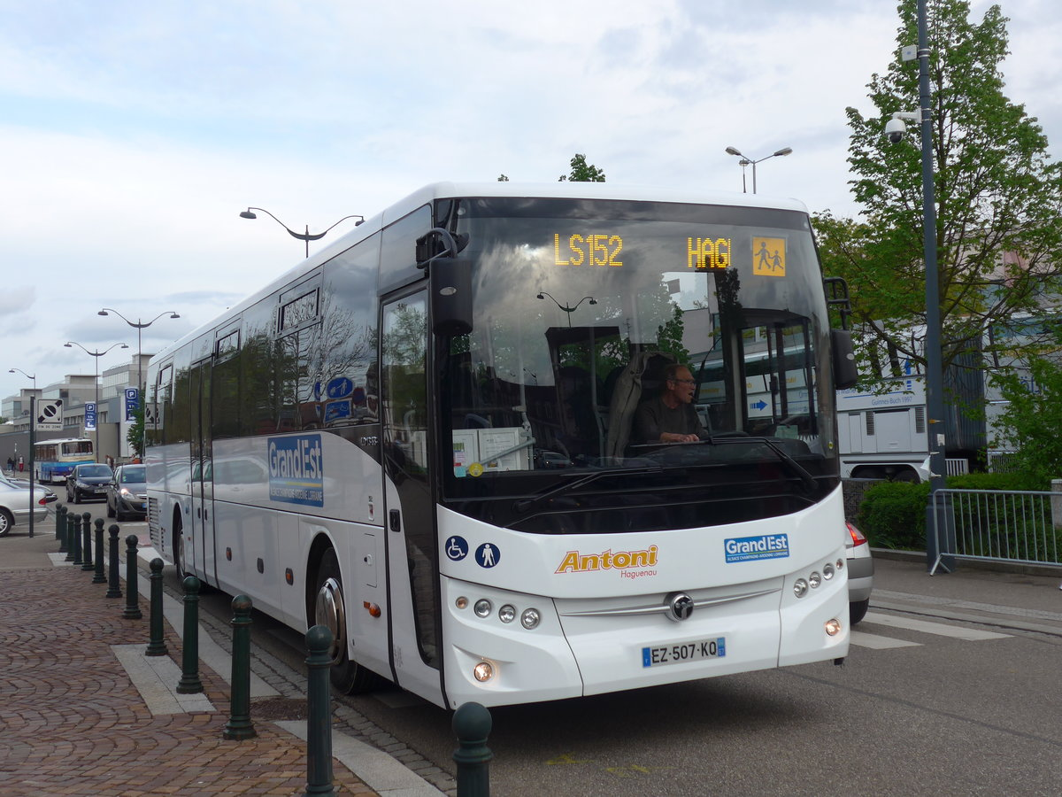 (204'099) - Antoni, Haguenau - EZ 507 KQ - Temsa am 26. April 2019 in Haguenau, Parkplatz