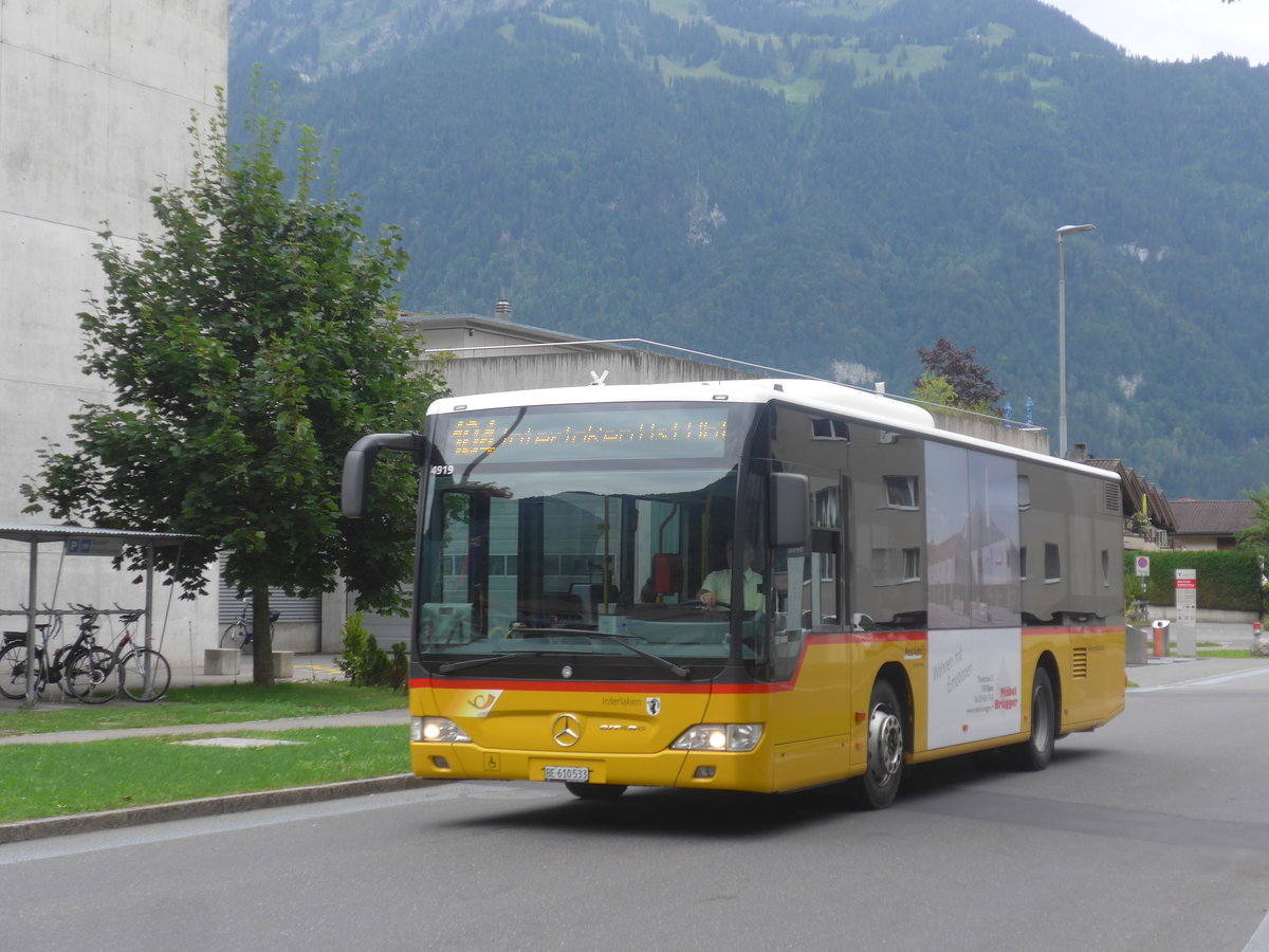(209'214) - PostAuto Bern - BE 610'533 - Mercedes am 1. September 2019 beim Bahnhof Interlaken Ost