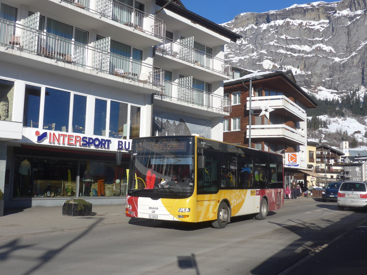 (213'267) - Stuppan, Flims - GR 88'602 - MAN/Göppel am 1. Januar 2020 in Flims, Bergbahnen