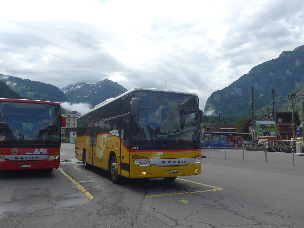 (218'069) - PostAuto Bern - BE 401'263 - Setra (ex AVG Meiringen Nr. 63) am 21. Juni 2020 in Meiringen, Postautostation