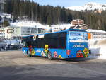 (223'227) - Pfosi, Arosa - Nr. 13/GR 180'118 - Neoplan (ex Nr. 8) am 2. Januar 2021 in Arosa, Post