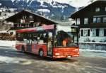AFA Adelboden/346718/124234---afa-adelboden---nr (124'234) - AFA Adelboden - Nr. 55/BE 611'055 - MAN/Göppel am 24. Januar 2010 beim Bahnhof Lenk