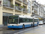 (170'156) - VMCV Clarens - Nr. 3 - Van Hool Gelenktrolleybus am 18. April 2016 in Montreux, Escaliers de la Gare
