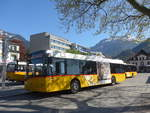 (216'098) - PostAuto Bern - BE 610'538 - Solaris am 15. April 2020 beim Bahnhof Interlaken West