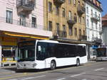 (224'705) - Interbus, Yverdon - Nr. 46/NE 231'046 - Mercedes (ex Oesterreich) am 2. April 2021 beim Bahnhof La Chaux-de-Fonds (Einsatz CarPostal)